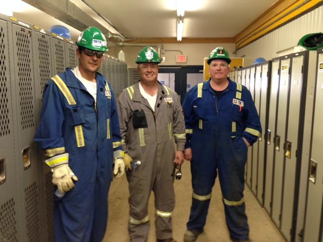 Lance Nicols, Ghislain Gingras et Christian Masse - Suncor site Firebag